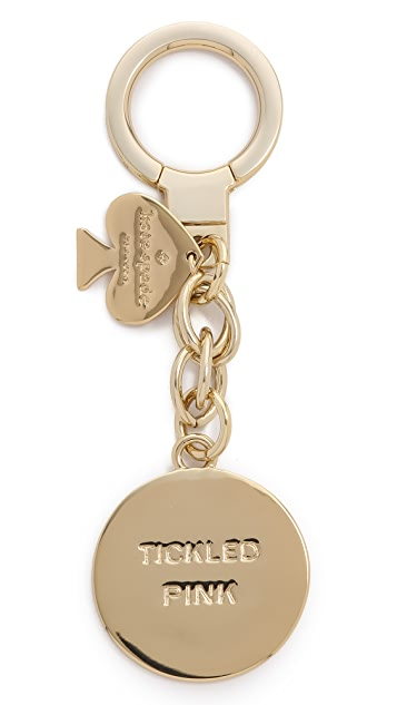 Kate Spade New York Blushing Emoji Keychain