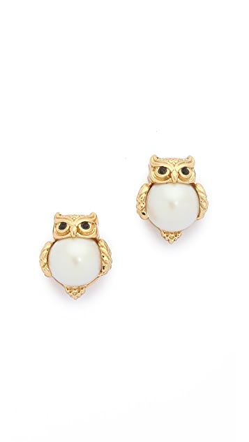 Kate Spade New York Into the Woods Owl Stud Earrings
