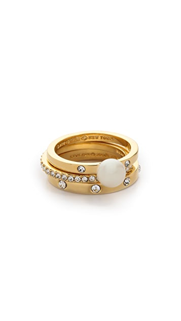 Kate Spade New York Pearly Delight Stackable Rings