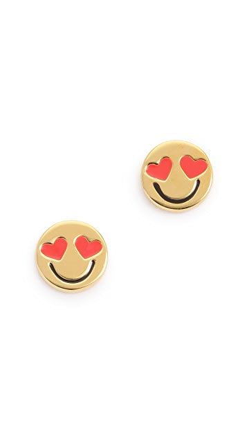 Kate Spade New York Smitten Emoji Stud Earrings