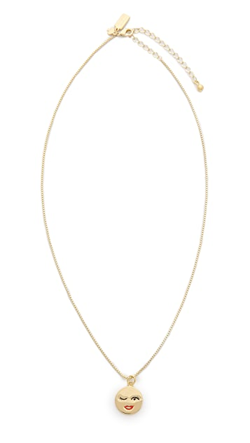Kate Spade New York Winking Emoji Pendant Necklace