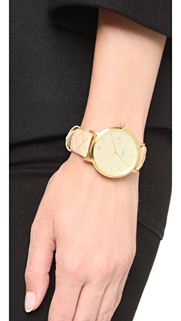 Kate Spade New York Metro Grand Quilted Strap Watch