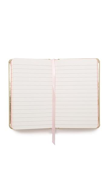 Kate Spade New York Little Gold Book Medium  Notebook
