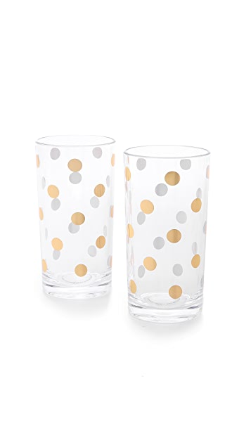 Kate Spade New York Набор высоких стаканов Raise a Glass
