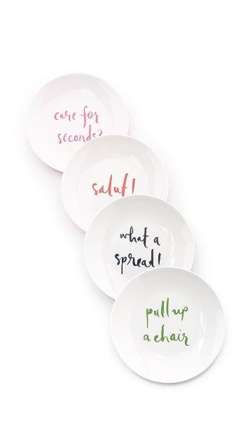 Kate Spade New York Salut! Набор тарелок для лакомств из меламина