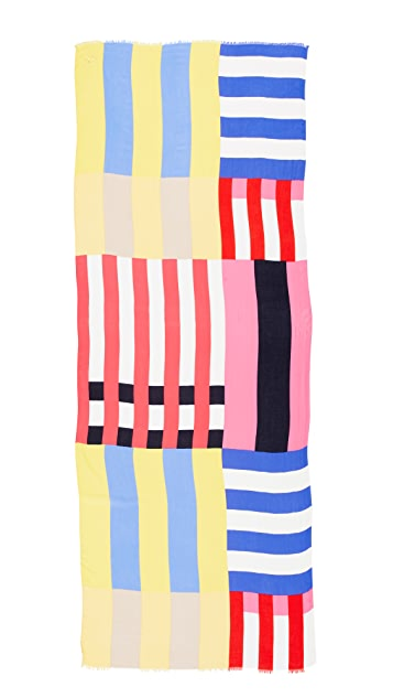 Kate Spade New York Flage Stripes Oblong Scarf