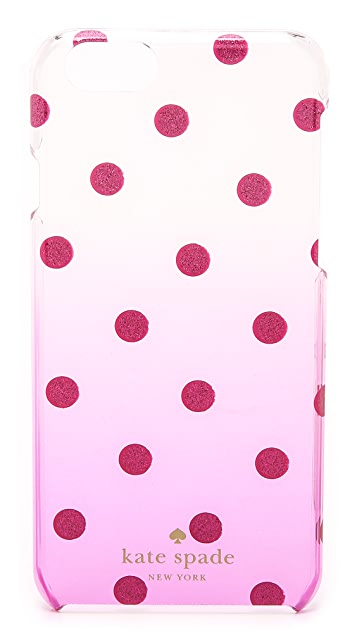 Kate Spade New York Glitter Dot Clear Ombre iPhone 6 / 6s Case