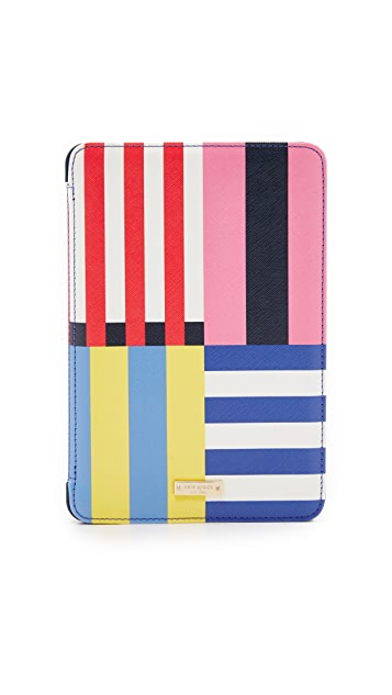 Kate Spade New York Flag Stripe iPad Mini 2/3 Folio Hardcase