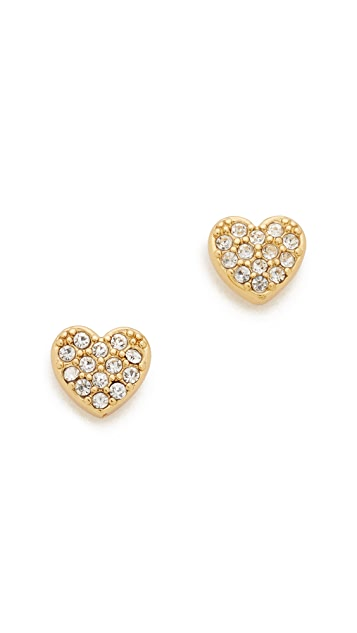 bb868cd139140 Kate Spade New York Love List Pave Heart Studs Earrings
