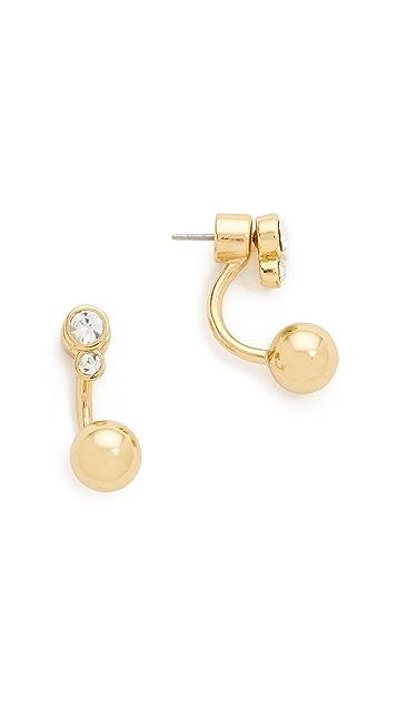 Kate Spade New York Clear As Crystal Ear Jacket Earrings