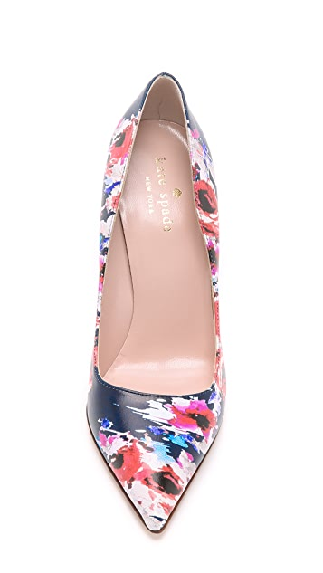Kate Spade New York Licorice Floral Pumps