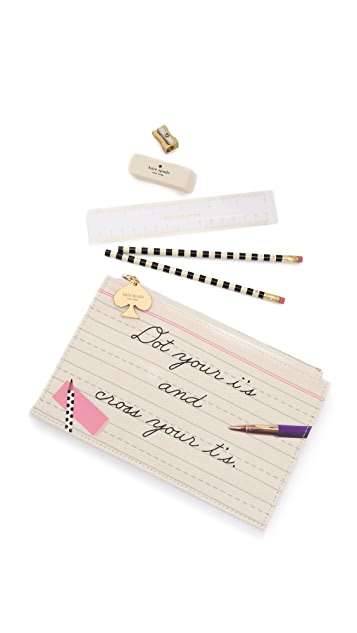 Kate Spade New York Dot Your I's Pouch