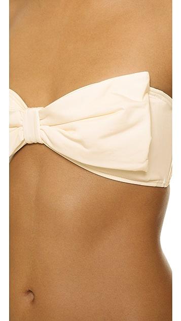 Kate Spade New York Georgica Beach Bow Bandeau Bikini Top