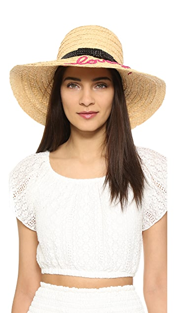 Kate Spade New York Embroidered Lovely Sunhat