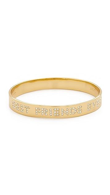 Kate Spade New York Engraved Best Friends Ever Bangle Bracelet