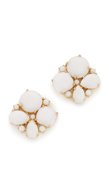 Kate Spade New York Seastone Sparkle Cluster Stud Earrings