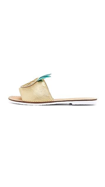 Kate Spade New York Ibis Pineapple Slides