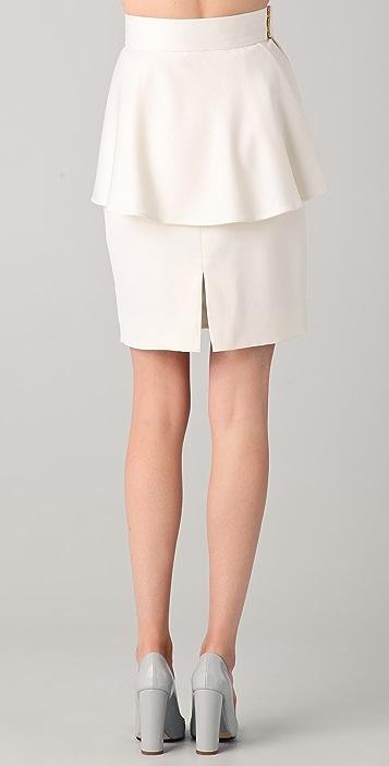 Katie Ermilio Asymmetrical Peplum Skirt