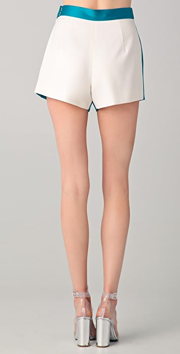Katie Ermilio Reversible Colorblock Shorts