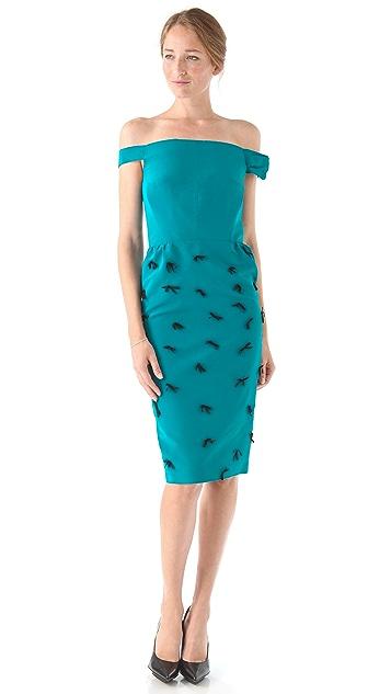 Katie Ermilio Bow Sleeve Party Dress