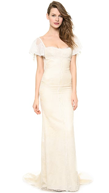 Katie May Vienna Flutter Sleeve Gown