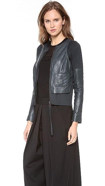 KAUFMANFRANCO Merino Leather Zip Up Jacket