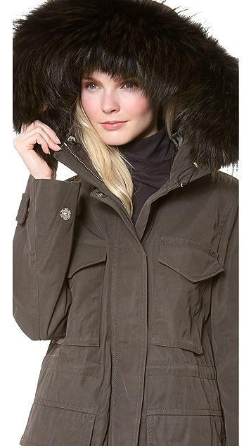KAUFMANFRANCO Utility Jacket with Fox Fur Trim