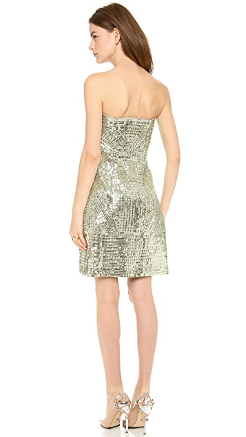 KAUFMANFRANCO Strapless Sequin Dress