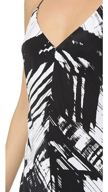 KAUFMANFRANCO Sleeveless Print Gown