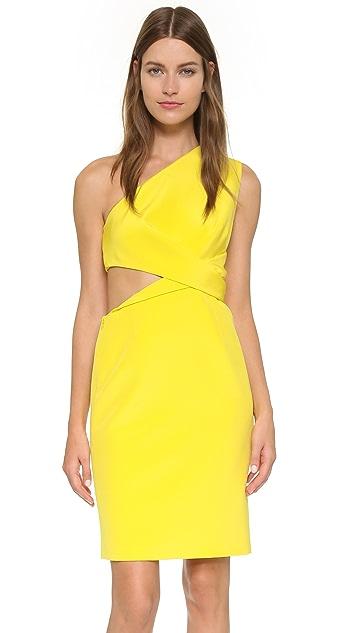 KAUFMANFRANCO One Shoulder Dress