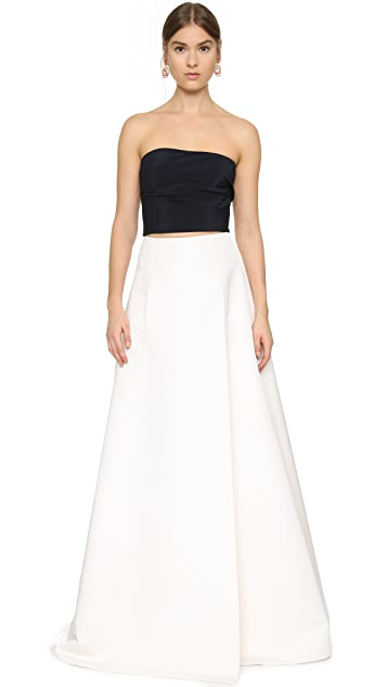 KAUFMANFRANCO Silk Faille Maxi Skirt