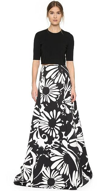KAUFMANFRANCO Print Maxi Skirt