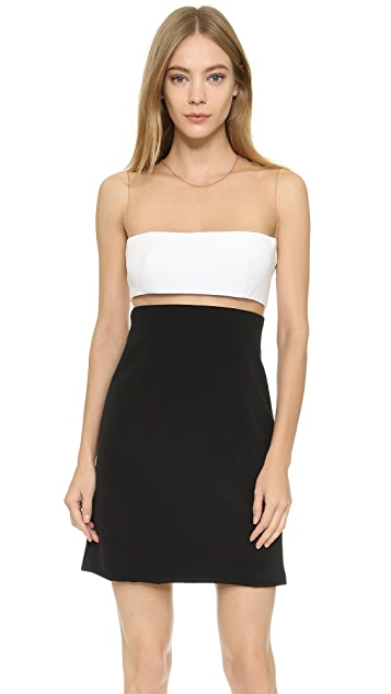 KAUFMANFRANCO Floating Strapless Cocktail Dress