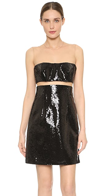 KAUFMANFRANCO Liquid Sequin Floating Dress