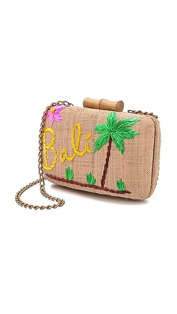 Kayu Bali Embroidered Clutch