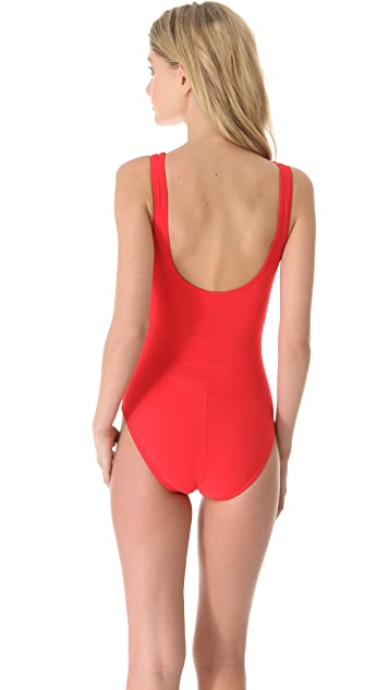 Karla Colletto V Neck Swimsuit