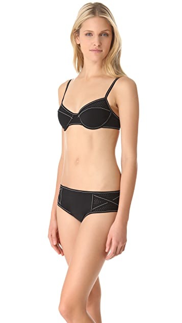 Karla Colletto Perforated Bikini Bottoms