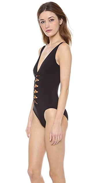 Karla Colletto Tortoise One Piece Swimsuit