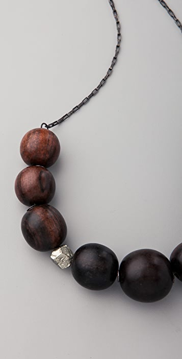 Kristen Elspeth Ebony & Pyrite Necklace