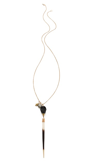 Kristen Elspeth Skull Charm Necklace