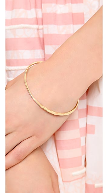 Kristen Elspeth Crescent Circle Bangle Bracelet