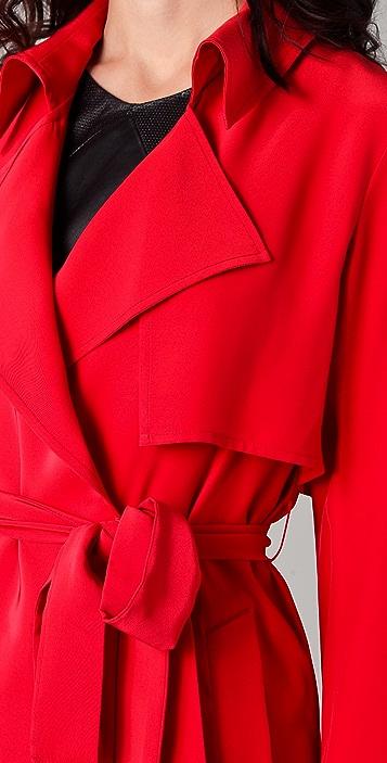 Kelly Bergin Silk Trench Coat
