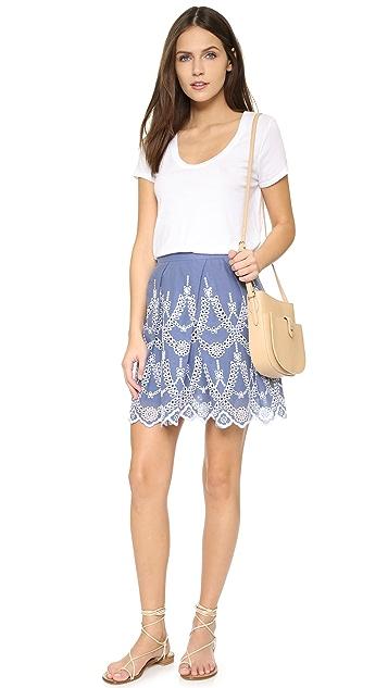 KENDALL + KYLIE Eyelet Circle Skirt
