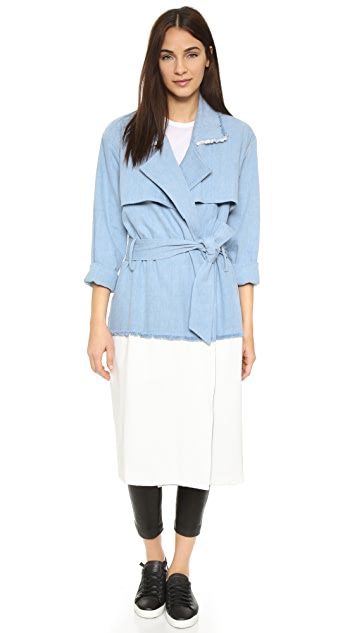 KENDALL + KYLIE Denim Trench