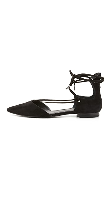KENDALL + KYLIE Sage Lace Up Ankle Flats