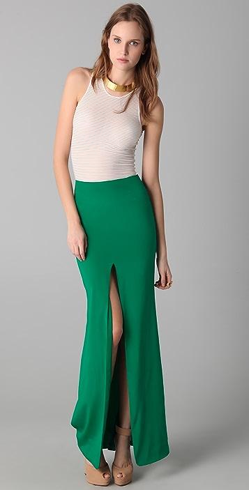 Kevork Kiledjian Long Skirt with Slit