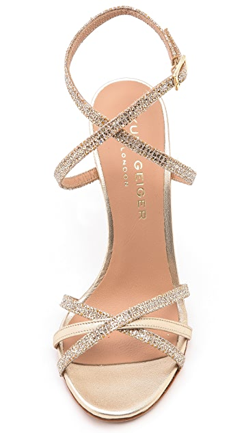 Kurt Geiger London Bridge Strappy Metallic Sandals