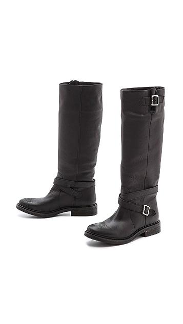 KG Kurt Geiger Warrior Flat Tall Buckle Boots