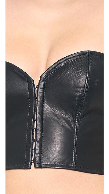 Kiki De Montparnasse Leather Strapless Top