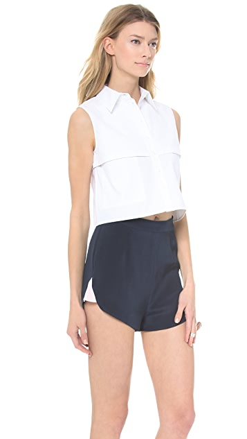 KIMEM Cropped Shirt